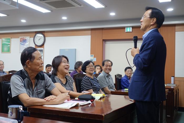 한국산림아카데미 조연환 이사장님의  강의 현장